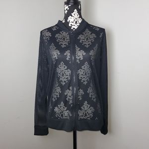 Victoria secret black mesh long sleeve workout M